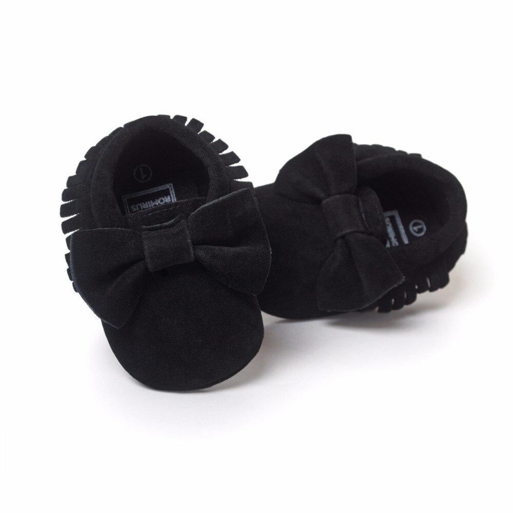 Sepatu bayi PU kulit Padat rumbai Buram, kupu-simpul Bayi Baru Lahir - Sepatu bayi - Foto 6