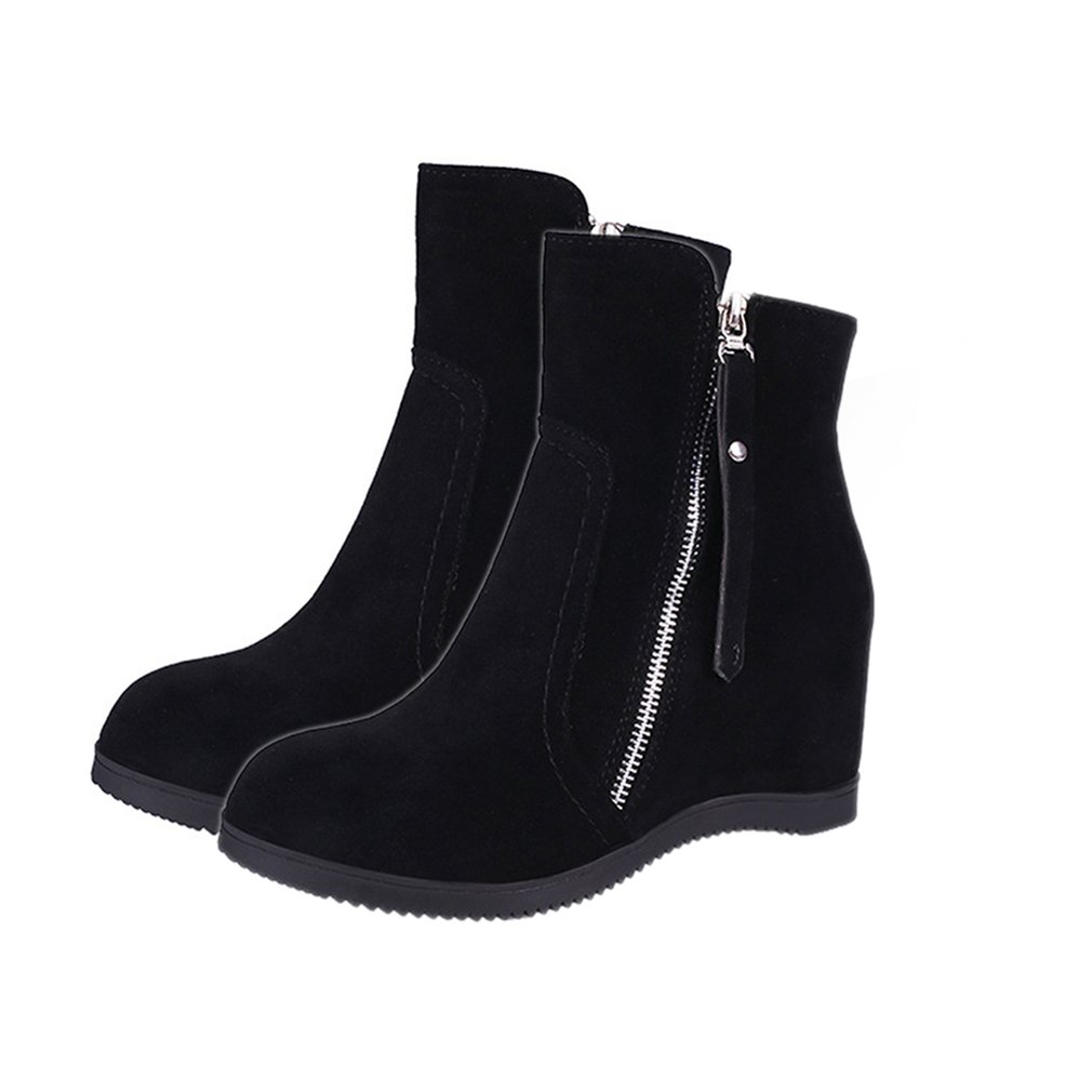 Women Ankle Boots New Fashion Waterproof Wedge Platform Winter Warm Snow Boots Shoes For Female platform bowkont flocking snow boots