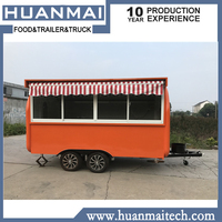 Waffle Food Carts Truck Street Vending Food Trailers Mobile Kitchen 3400x1850x2300