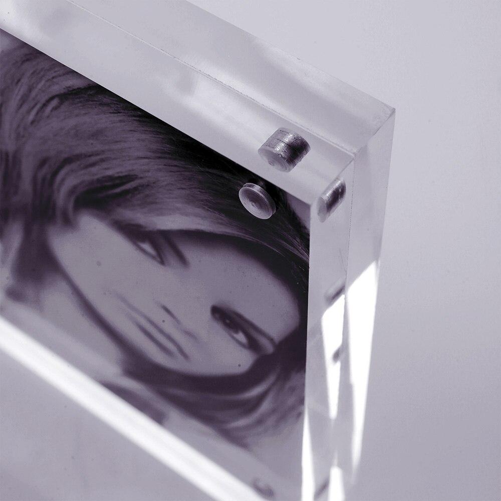 8x8 pulgada cuadrado de pie acrílico plexiglás marcos de fotos imán ...