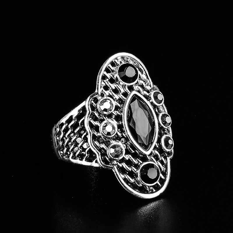 تركيا مجوهرات موضة العين خاتم أحمر الرجعية فسيفساء الكريستال منحوتة خاتم للنساء أو الرجال الذكرى مجوهرات هدية