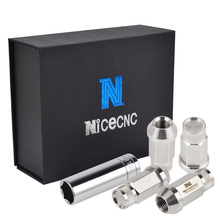 цена на NICECNC 24PCS M14x1.5 Trail Wheel Lugs Nut Drift Rim Lug Acorn Bolts T304 Stainless Dub For Cadillac Escalade /Escalade ESV/EXT