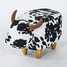 Creative children's bench cute cartoon home cattle stool wear-resistant dirt animal storage shoe stool Living room bedroom stool(China)