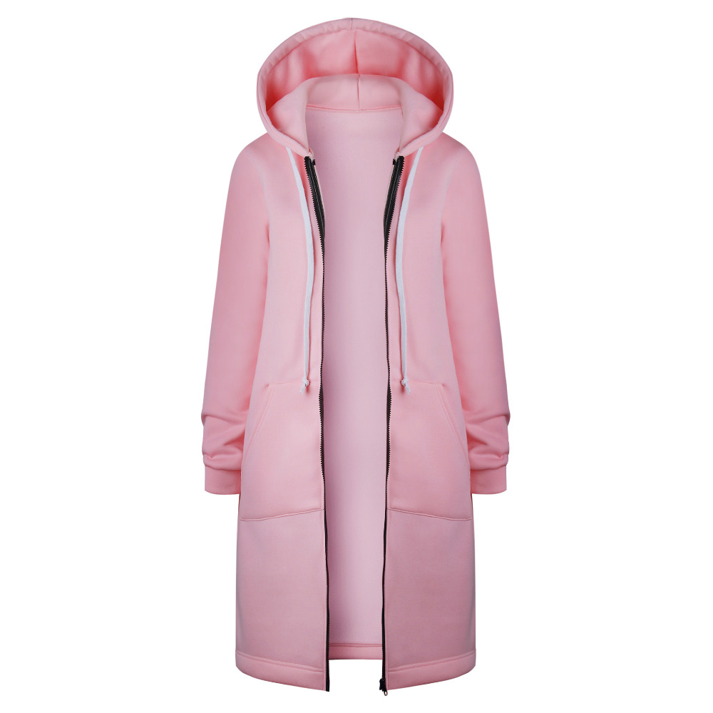 HTB1CjmKX nI8KJjSszbq6z4KFXay Women Warm Winter Fleece Hooded Parka Coat Overcoat Long Jacket Women Outwear Zipper Female Hoodies S-5XL plus size sweatshirt