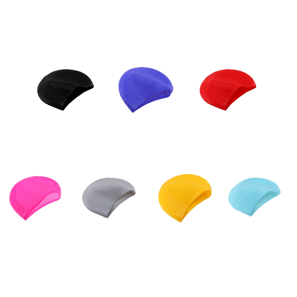 Silicone Swimming Cap for Long & Short Hair Women Ladies Diving Hood Hat, Keep Hair Dry  ...