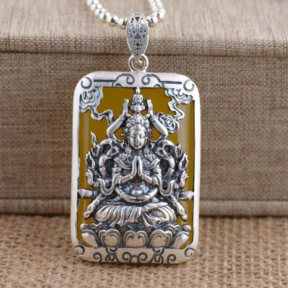 Zodiac prince Buddha 925 sterling silver pendants patron saint ornaments chalcedony pendant thailand sterling silver indian patron saint feathers ring