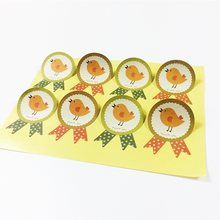 80PCS Kawaii Yellow Chicks Thank you Sticker For Cakes Muffins Cokkies & Chocolates Seal Stickers Packaging Label(China)