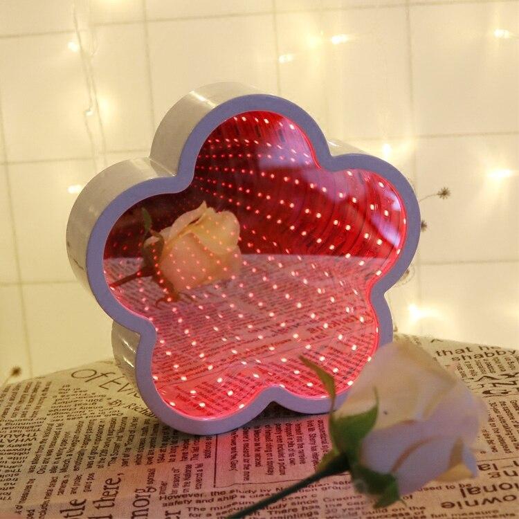 Новый 2018 светодиодный ночник для малыша зеркало туннель настенный светильник ананас Moon Star Облако Цветок стол свет декора для дома спальня п...