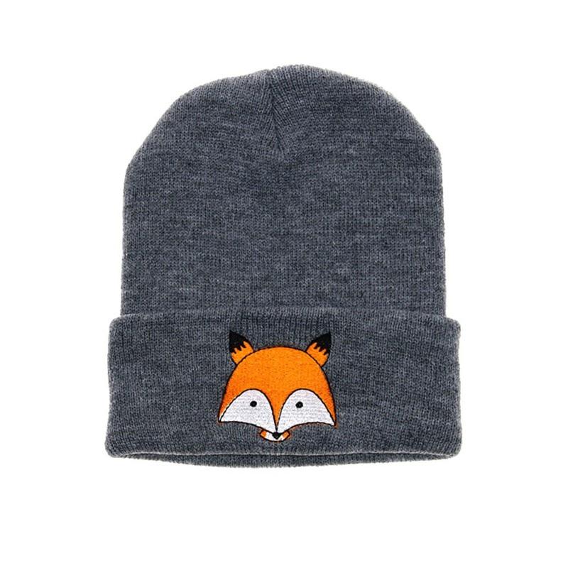 Outono/inverno crianças chapéu meninos meninas chapéu crianças dos desenhos animados raposa impresso boné macio quente conforto chapéu