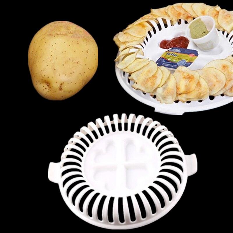 1 unids inicio cocina estante horno de microondas de apple de la patata crujient
