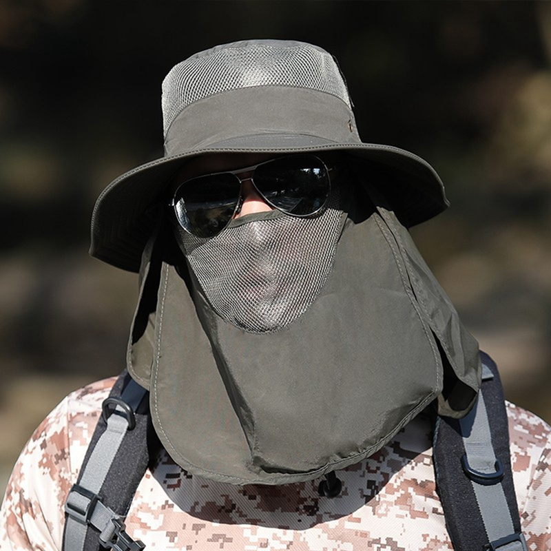 Image 5 - Fishing Flap Caps Men Women Quick Dry 360 Degree Sunshade UV Protection Removable Face Mask Ear Neck Cover Face Sun Cap-in Fishing Caps from Sports & Entertainment