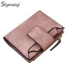 Slymaoyi 2017 New Fashion Women Wallet Retro Female Purse PU Zipper Wallets Short Design Clutch Femininas Brand Card Holder Gift