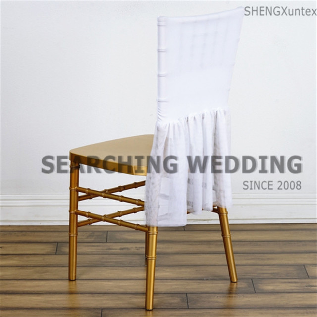 Chiavari Chairs China Tub Chair Lift White Color Lycra Spandex Cover With Tutu Fabric Decoration