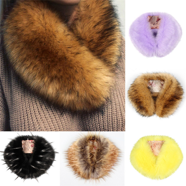 leopard faux fur scarves imitation lion long hair scarf faux rabbit hair women winter shawl
