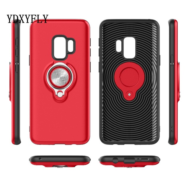 5ac4731c3477ef War Wolf Ring stand shockproof Case For Samsung Galaxy A8 2018 Magnetic 360  Degree Rotation Armor Case For Galaxy A8 Plus 2018