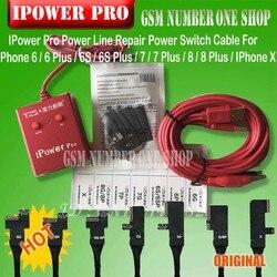 Новейший кабель iPower pro с выключателем питания, iPower Pro для iPhone 6G/6P/6S/6SP/7G/7P/8G/8P/X DC, контроль мощности тестовый Кабель