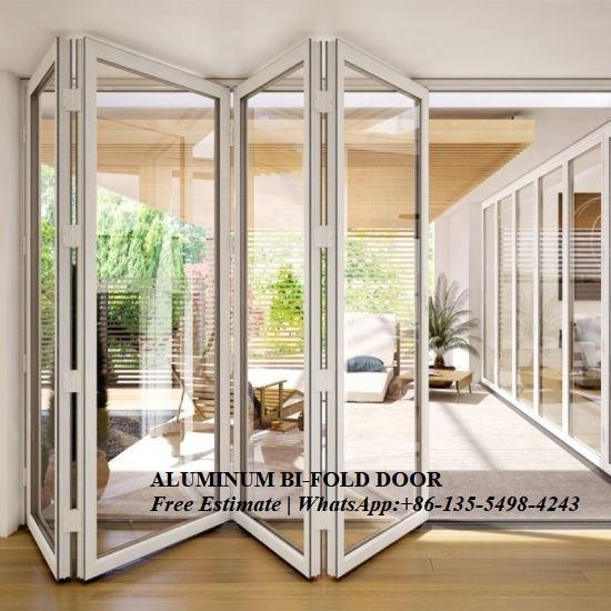 Aluminium Double Glass Sliding Folding Door For Entrance,interior Door,patio Doors For Villa Use,Exterior Room Dividers