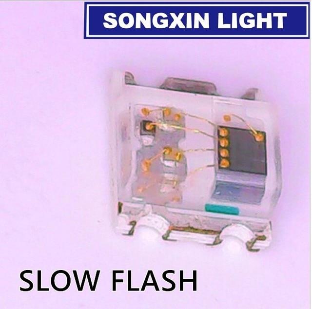 1000 diodo colorido 0805*2.0*1.8mm do rgb dos pces 0.8 rgb cintilação multicolorido 0807 diodo led smd piscando rápido lento piscando com ic