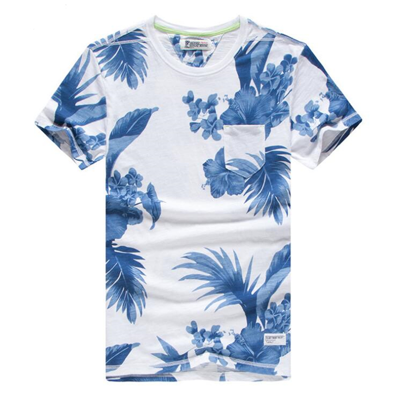 Men/'s Floral Shirts Slim Fit Casual Summer Long Sleeve Cotton Tops T-shirt Tee