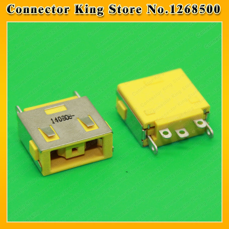 ChengHaoRan Yellow Ultrabook DC Power Jack for Lenovo YOGA  X  Carbon Lenovo G400 G490 G500 G505 Z501 DC Jack Square Port,DC-214 yuxi free shipping 10pcs lot laptop motherboard dc power jack connector for lenovo g400 g490 g500 g505 z501