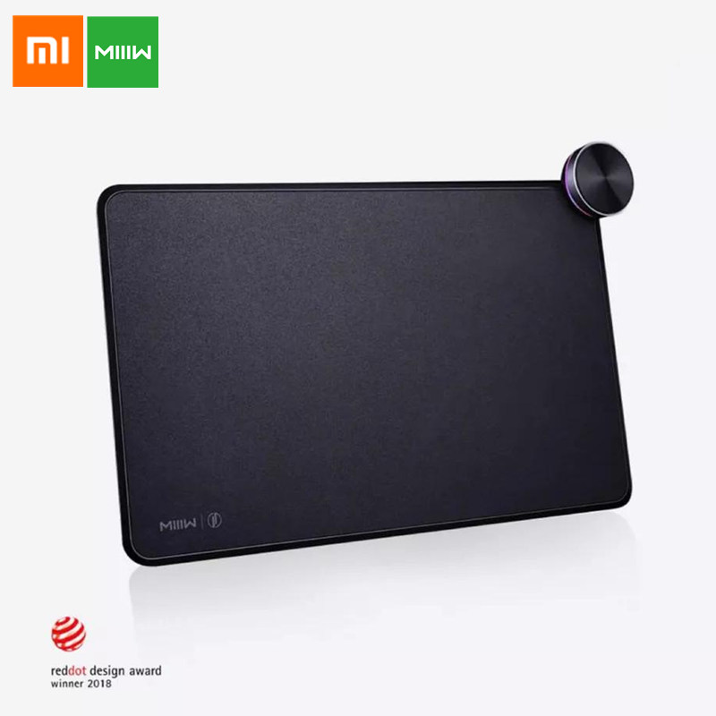 Original Xiaomi MIIIW Smart Mouse Pad With Qi Wireless Fast Charge Support Mi Mix 2S 16.8 Million Color RGB Light Touch Button