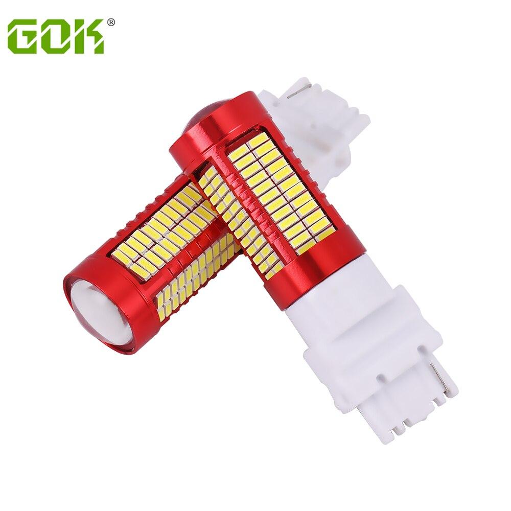 2шт T25 3157 3156 светодиодный 106SMD 4014 светодиодный 3157 сигнальная Поворотная лампа белый светильник, автомобильный светильник, источник света, зад...