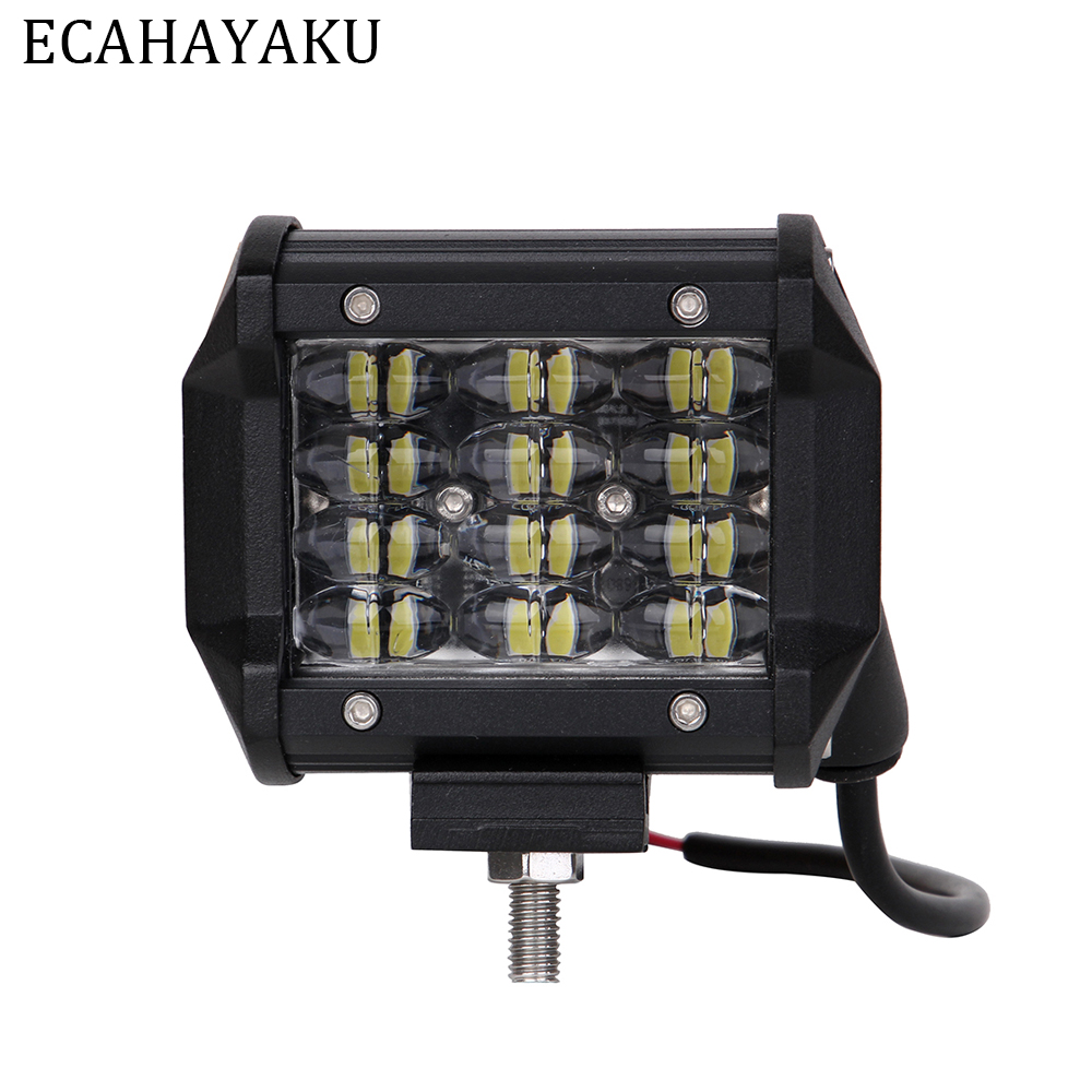 ECAHAYAKU 1PCS 2018 New Product 4 36W 6000K Car Led Light Bar Waterproof IP68 Work Lamp for Offroad 4x4 SUV ATV Trailers Trucks