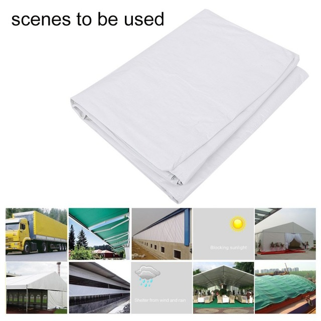 3 6 4 12 Meter Sun Shelter Tarpaulin Heavy Duty Canopy Tarp Coated Tent Car Boat Cover Camping Mat Beach White In From Sports