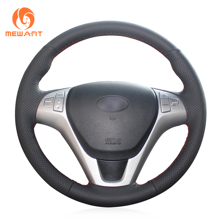 MEWANT Black Artificial Leather Car Steering Wheel Cover for Hyundai Rohens Coupe 2009 Rohens Coupe cronus coupe 0 5