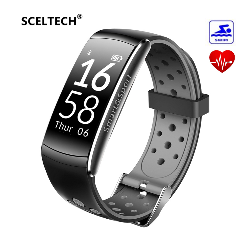 SCELTECH Q8 Smart Armband Herz Rate Monitor Fitness Tracker Bluetooth Armband Wasserdichte Sport Smart band für Android IOS