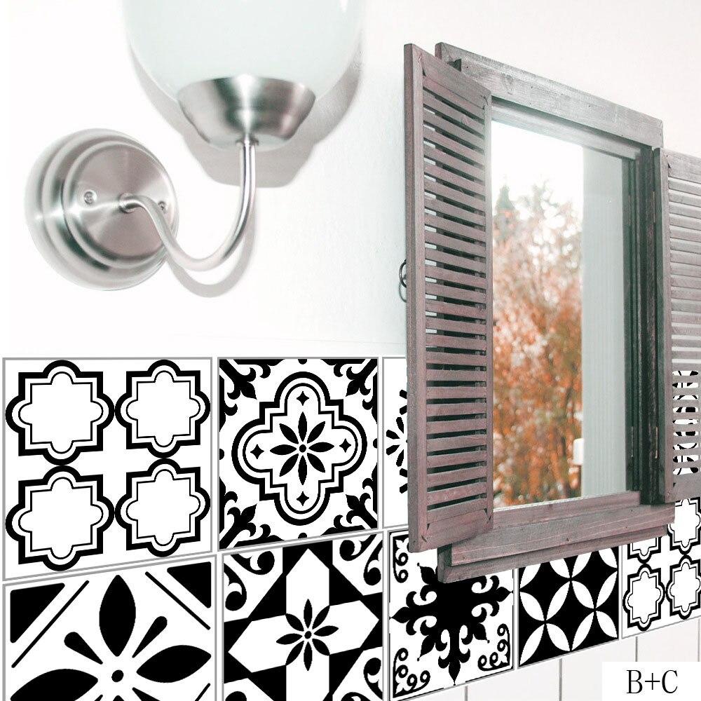 Stickers Wallpaper Toilet Waist-Line Kitchen Adhesive Mosaic Bathroom Waterproof PVC