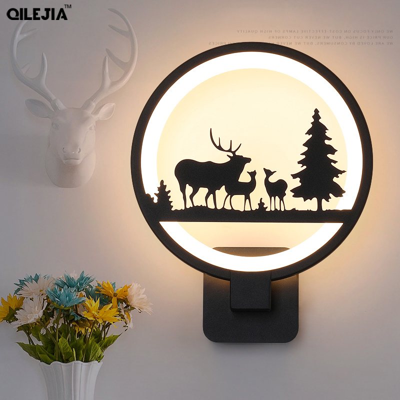 LED Wall Lamps wall mounted Modern Simple European Style Bedroom Bedside Reading Lamp Living Room Foyer