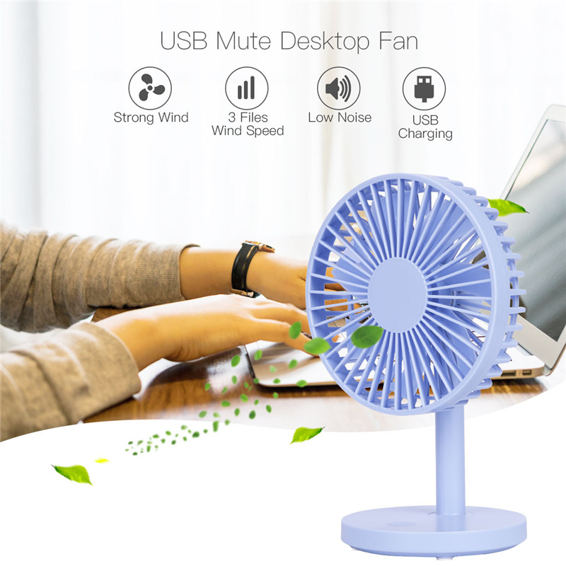 Small Quiet Electric Fans : Mini usb desk fan small quiet desktop personal fans