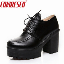 COVIBESCO Sexy Punk Women Boots Euro Style Platforms Square Heels Ankle Boots Fashion Motorcycle Boots Martin Shoes