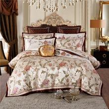 New Luxury European Silk Satin Cotton Jacquard Royal Wedding Bedding Set Duvet Cover Bed sheet Bed Linen Pillowcases 4/9pcs bed linen set leticia collection estetica fabric of satin jacquard production of ecotex russian companies