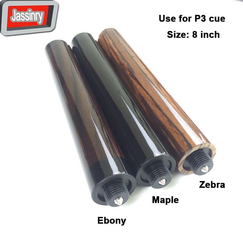 free shipping Billiards Pool cue extensions for P3 cue 8inch maple ebony zebra cue extensions high