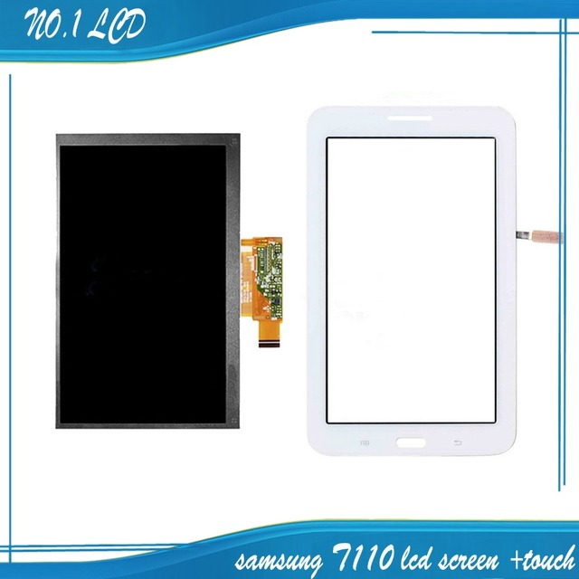 Para samsung galaxy tab 3 lite 7.0 sm-t111 t111 blanco pantalla táctil digitalizador del sensor de cristal + lcd display panel reemplazo para monitor
