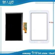 Für samsung galaxy tab 3 lite 7.0 sm-t111 t111 weiß touchscreen digitizer glass sensor + lcd display panel monitor ersatz