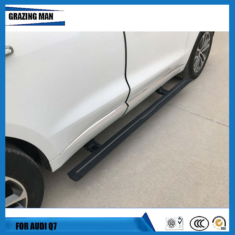 Hot sale aluminium alloy Flexible side step running board Electric pedal for Q7 2016 2017 2018