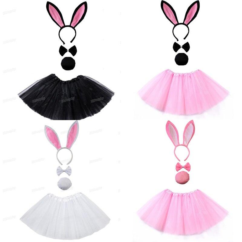 Hen Party Cat Tail /& Ears Tie Set Black Fancy Dress Party Accessory Girls New