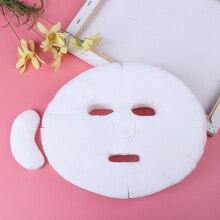 100pcs חד פעמי פנים מסכת DIY רך שאינו רעיל טהור Facemask גיליון יופי כלים לנשימה כותנה פנים מסכת גיליון נייר
