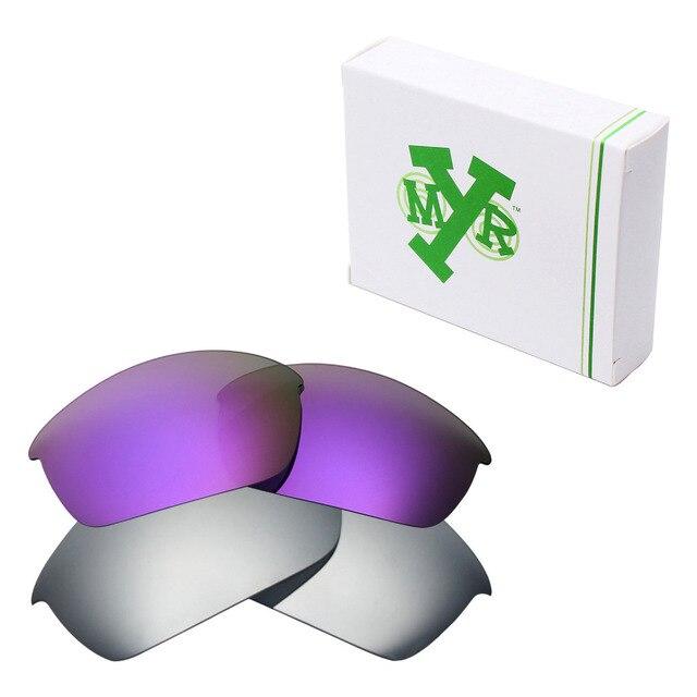 2 Pairs MRY ПОЛЯРИЗОВАННЫХ Сменные Линзы для Oakley Бронежилет Солнцезащитные Очки Серебро Титан & Plasma Фиолетовый