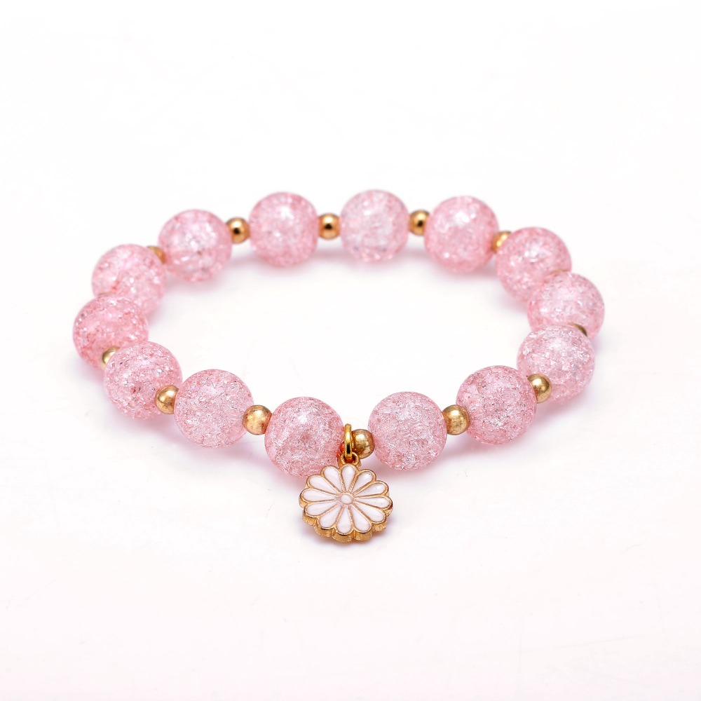 Online get cheap flower girl pearl bracelet aliexpress fashion new brand crystal bracelets with sun flower pendant charm imitation pearl beads bracelets for women dhlflorist Image collections