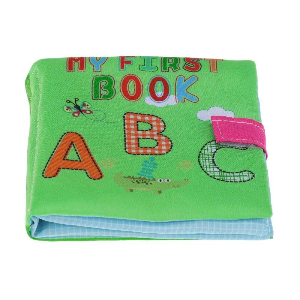 Eboyu (TM) ребенок первый Ткань книги моющиеся мягкие ткани книга писк погремушка Crinkle игрушка для малышей изучение английского письмо