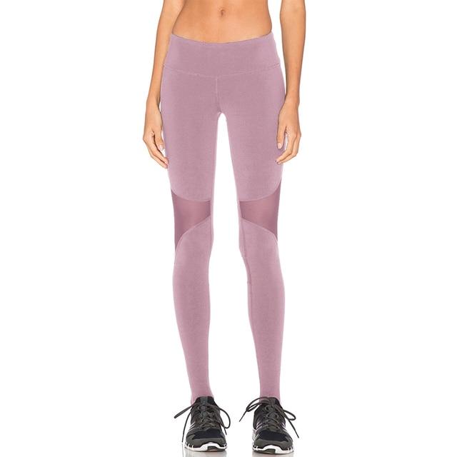 9fc9f023d5e9b Polyester Quick-drying Net Yarn Yoga Pants Multi Elastic Waist Running  Fitness Slim Sport Pants Gym Leggings For Women Trousers