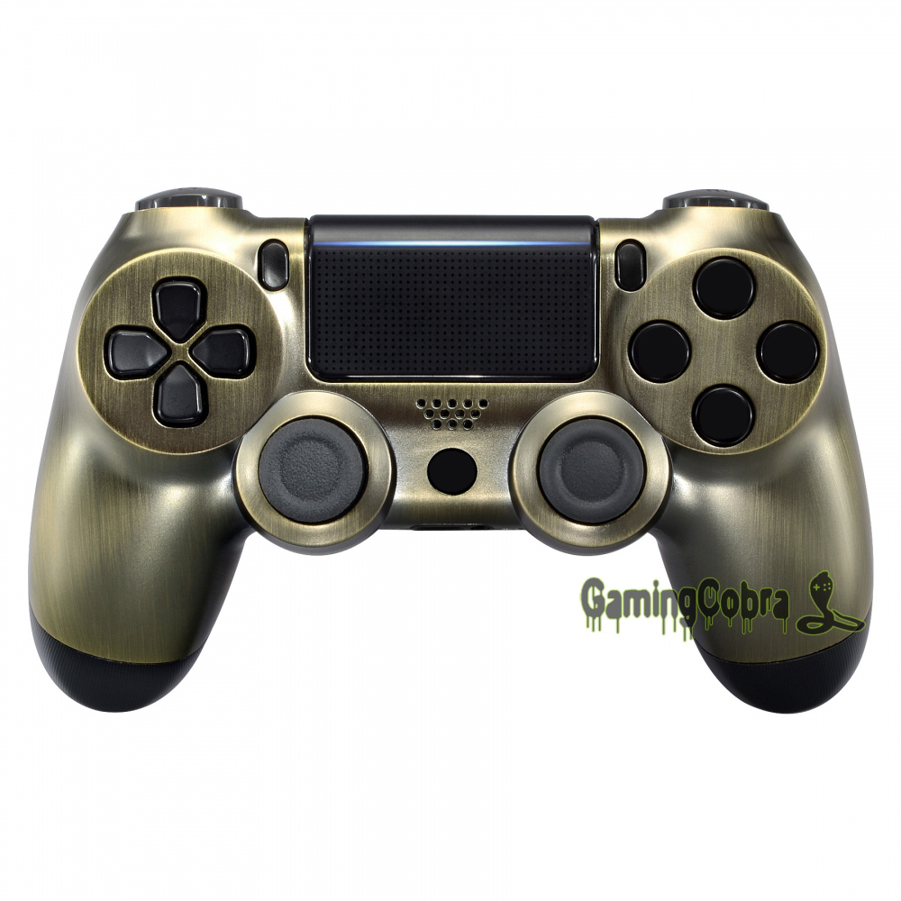 Bronze Color Designed Front <font><b>Shell</b></font> Faceplate for PS4 Pro Slim Controller <font><b>JDM</b></font>-040 <font><b>JDM</b></font>-050 <font><b>JDM</b></font>-<font><b>055</b></font> #SP4FD01 image