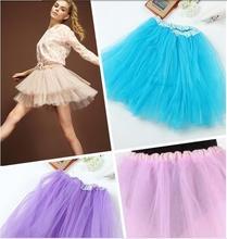 2019 Hot Women Girl Pretty Elastic Stretchy Tulle Teen 3 Layer Adult Tutu Lolita Ballet Skirt 12 Colors 4021