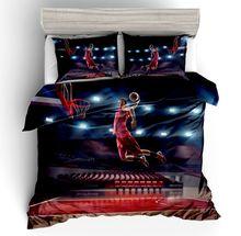цена Sport Series Digital Printed Basketball Slam Dunk Bedding Set US Twin Full Queen King Size Duvet Cover Pillowcase 2/3 Pieces Set онлайн в 2017 году