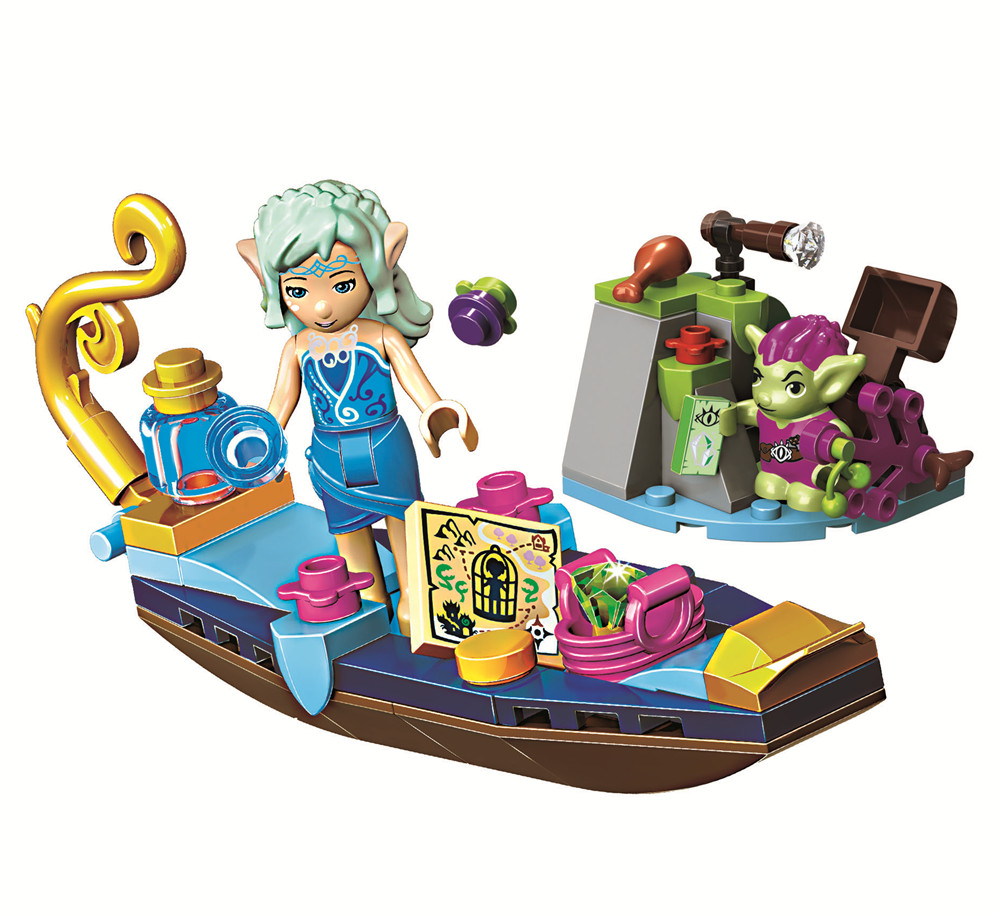 BELA Elves Naidas Gondola & The Goblin Thief Building Blocks Set Girls Friends Kids Gifts Toys Compatible With Legoings City