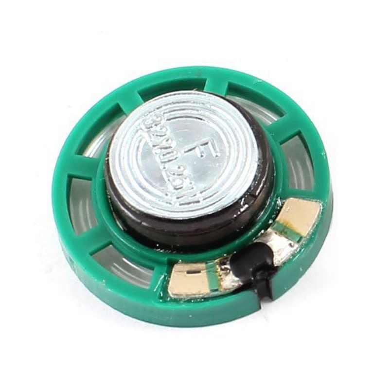 0.25 ワット 32 オームプラスチック 4 磁気スピーカーと 27 ミリメートル直径グリーン + シルバー